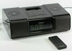 iHome iH9 Ipod Blk Speaker Dock Dual Alarm Clock Radio - TESTED - Free Shipping