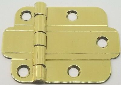 (POLISHED BRASS Flush Mount Art Deco Cabinet Hinge line antique vintage old retro)