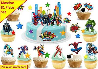 rs Scene Cup Cake Scene Toppers Edible Decor STAND UP CUSTOM (Avengers Cupcake Stand)