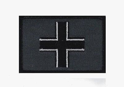 WWII Iron Cross Flag Military Flag Tactical morale Dark acu Hook Patch