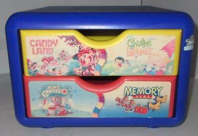 Milton Bradley EMPTY 2 Drawer Chest Stool Storage Candy Land Chutes Ladders -