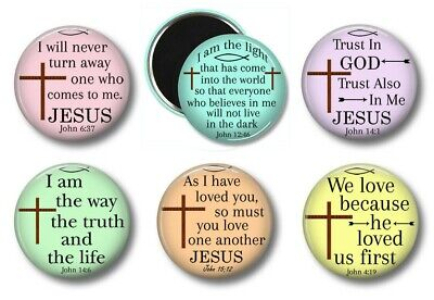 Christian Religious Bible Verse Fridge Magnets Set of 6 Party Favors Gifts #1