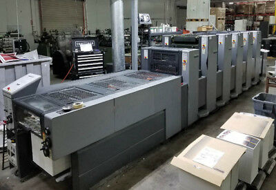 Heidelberg Speed Master Printing Press Sm52 5-color Coater Ryobi Komori
