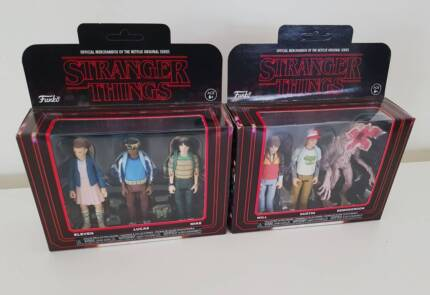 Funko Pop Reaction Stranger Things Figures Figurines Toys 3 Pack