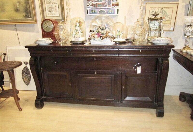 American Classical Style Mahogany Stained Sideboard