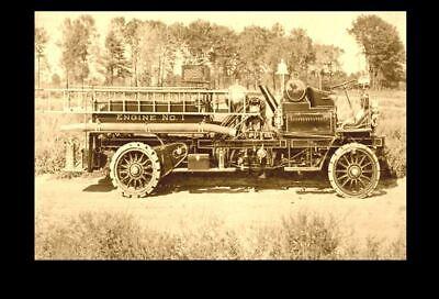 1905 First Fire Truck PHOTO Vintage Department Engine Springfield, Massachusetts First Fire Engine