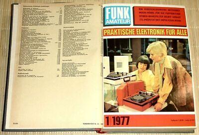 FUNKAMATEUR - Praktische Elektronik für Alle - 26. Jahrgang 1977 - 12 Hefte geb. Praktische Elektronik