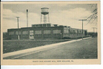 Ch Vanity (CH-491 PA, New Holland, Vanity Fair Hosiery Mill White Border Postcard Vintage)