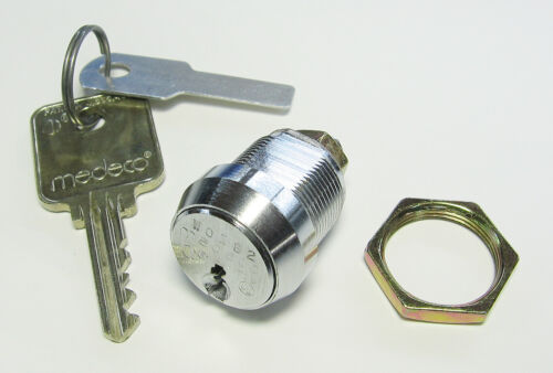 """BRAND NEW! – Medeco 72S High Security Cam Lock w/ 1Key, .625"""" Long, Sealed"""