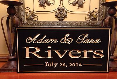 - Personalized Sign Anniversary Plaque Established Wedding  Engraved Family Gift