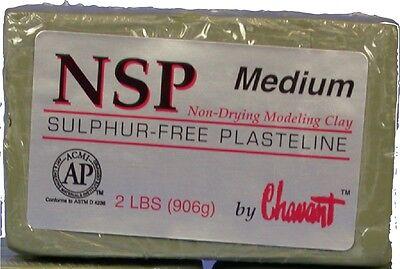 Chavant NSP Non-Drying Modeling Clay-Medium-Green-sculpting modeling