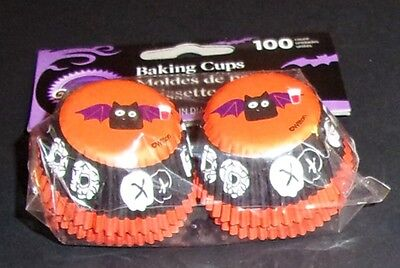 Wilton Halloween BAT Mini Baking Cups Cupcake Liners 100 ct  No - Halloween Cupcake Liners