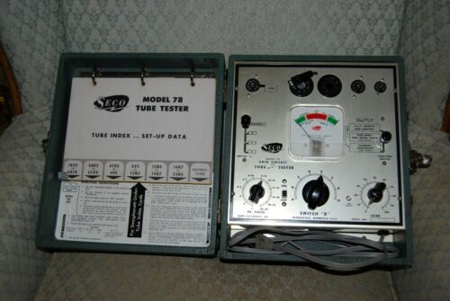 Seco Model 78 Tube Tester, Compact Suitcase Style, Vintage Powers Up, Clean!!!