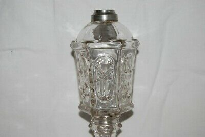Star & Punty Whale Oil Lamp 1840-1864 EAPG Boston Sandwich Glass Co.