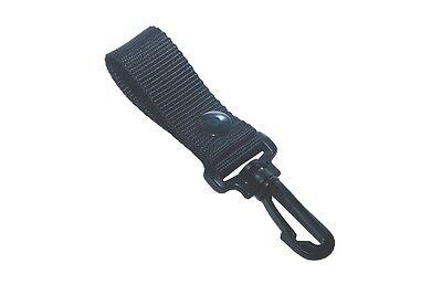 Gg4 Army Police Trekking Black Nylon Duty Belt Keepers Hook Trigger Keyring