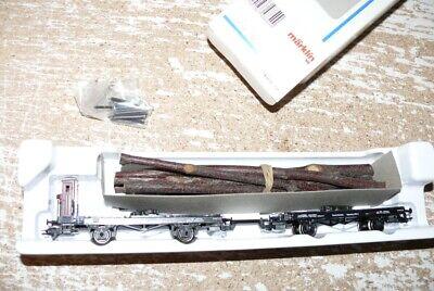 K23  Märklin48840  Drehschemel Wagenpaar mit Bhs Ladung DRG