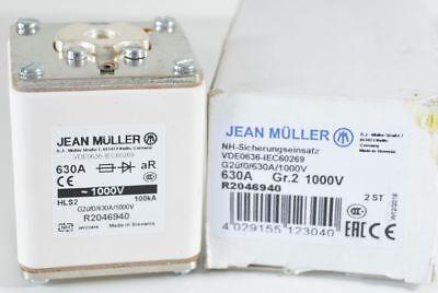 2 x Jean Müller R2046940 NH-Sicherungseinsatz 630A Gr.2 1000V