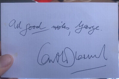 Ian McDiarmid Hand Signed Postcard Palpatine Darth Sidious Star Wars Autograph