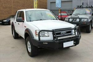 2007 Ford Ranger PJ XL (4x4) White 5 Speed Manual Dual Cab Pick-up Hoppers Crossing Wyndham Area Preview