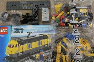 LEGO CITY YELLOW CARGO TRAIN SET FROM 7939 ENGINE ONLY WITH POWER FUNCTIONS