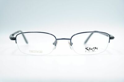 Kansai Yamamoto L2 Titanium Blue Black half Rim Glasses Frames New
