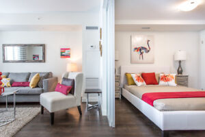 1 Bed – Condo-style suites w/ in-suite laundry & A/C - Call now!