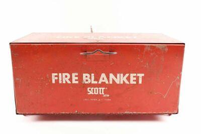 Vintage Scott Fire Blanket Metal Cabinet