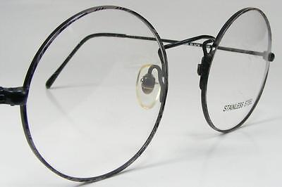 Black Demi-Grey Round Vintage Lennon Spectacles Vintage New Eyeglass Frames (Vintage Round Spectacles)