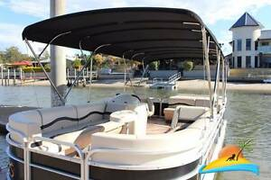 7m 150HP Performance Pontoon for hire.  LICENCE REQUIRED for hire Runaway Bay Gold Coast North Preview