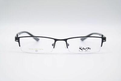 Kansai Yamamoto KY-3104 50 17 138 Black half Rim Glasses Frames New