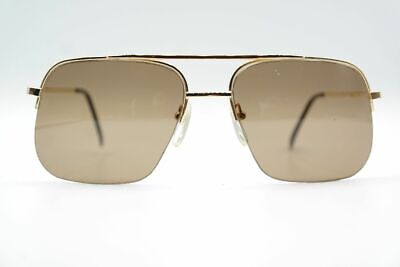 Vintage On Line 8886 Gold halbrand Sonnenbrille sunglasses Brille NOS