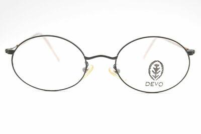 Vintage Devo Lunettes Cha 3248 49[]20 145 Schwarz/Braun oval Brille NOS