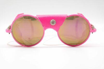 Vintage IDC Lunettes Neon Vintage 50[]19 Pink Weiss rund Sonnenbrille NOS ()