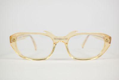 Vintage 60er Jahre Rex 52[]19 145 Braun oval Brille Brillengestell NOS