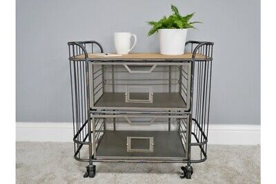 Industrial Factory Style Metal Mesh Storage Trolley Style - Office Unit, used for sale  Scunthorpe