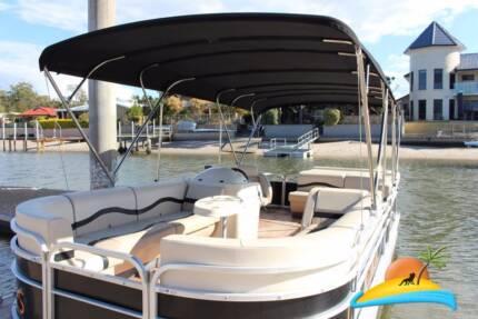 Luxury 24ft Pontoon boat with Suzuki 150HP