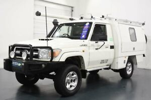 2016 Toyota Landcruiser LC70 VDJ79R MY17 GXL (4x4) French Vanilla 5 Speed Manual Cab Chassis