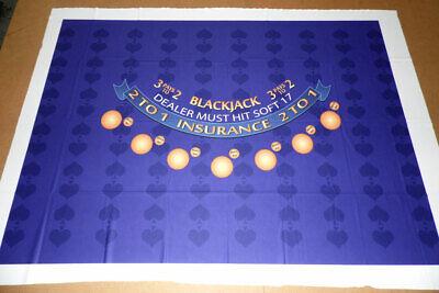 GENERIC BLACKJACK TABLE LAYOUT - 7 Player - ROYAL - Ultra-Glide™ NEW Over Run Blackjack Table Layout