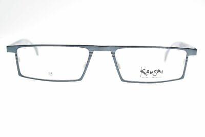 Kansai Yamamoto Ky 3093 53 17 146 Black Blue Oval Glasses Frames New