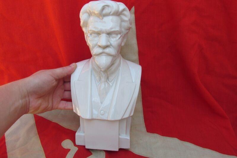 RARE BIG porcelain bust figurine communist Kalinin LFZ  sculptor Манизер 1925 D