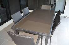 7 Piece wicker Dining outdoor setting  glass table 1800X900 Manly West Brisbane South East Preview