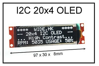 Iic I2c 2004 20x4 Oled Module Display - For Arduino  Pic Avr Arm