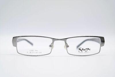 Kansai Yamamoto Ky 3039 50 18 144 Black Grey Oval Glasses Frames New
