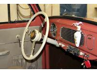 VW TYPE 12 BUG BUS PETRI BLACK SUN /& MOON STEERING WHEEL HORN BUTTON GREY BASE