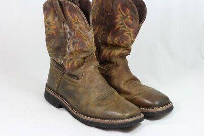 Justin Calimero Premium Leather Western Work Boots, UK 8.5 / EU 42.5 / 13128