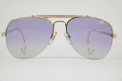 Vintage Online 8889 New Customized Lenses 58 []18 Gold oval Sonnenbrille NOS
