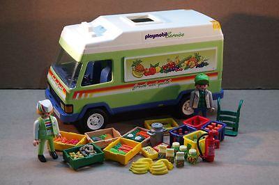 Playmobil 3204 Lieferwagen Supermarkt Obst Gemüse Auto #89