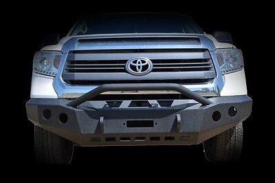 2014-2016 Toyota Tundra Front Bumper Steel Winch Ready KO Offroad Black Powder
