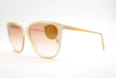 Vintage Zeiss 1569 8312 58[]14 Weiß Braun rund Sonnenbrille sunglasses NOS ()