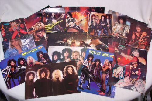 Motley Crue Vince Nikki rock band magazine centerfold 41 poster lot